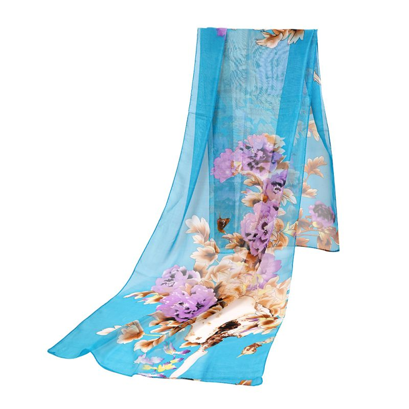 Fashion Ladies Long Soft Silk Chiffon font b Scarf b font Shawl font b Scarves b